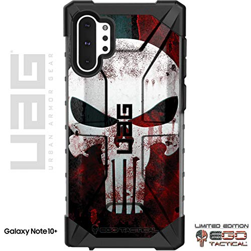EGO Tactical Limited Edition UAG Urban Armor Gear Case for Samsung Galaxy Note 10 Plus - Black Bloody Punisher