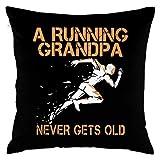 I AM A Running Grandpa Never GETS LOD Decorative Throw Pillow Covers Case Pillowcases Kissenbezüge...