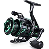 Sougayilang Fishing Reel 6.2:1 High-Speed Gear Ratio Spinning Fishing Reel with 12+1Stainless BB and CNC Aluminum Spool & Handle for Freshwater and Saltwater Fishing-2000