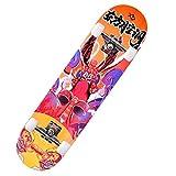 Tabla Completa de Skate de 31 X 8 Pulgadas con Madera de Arce de 7 Capas Y Rodamientos de Bolas Abec-11 de Dureza de Rueda 95a, para NiñOs, Adolescentes Y Adultos-Hb4