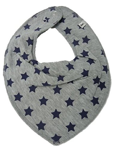 Pippi Pippi ? Baby Kinder Halstuch Dreieckstuch ? grau mit Sternen blau ?