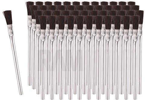 RAM-PRO 48 Flexible Bristle Tin/Metal Tubular Ferrule Handle Acid/Flux Brushes for Home/School/Shop/Garage