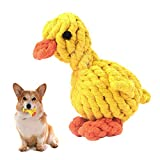 MEKEET Puppy Boredom Rope Toy, Cotton Natural Teeth Cleaning Chew Rope Dogs Ball Knot Training toy Small Dogs Toy (Duck)