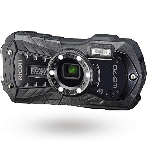 RICOH WG-70 ブラック リコー本格防水デジタルカメラ 14m防水 (連続2時間) 1.6m耐衝撃 防塵 -10℃耐寒 アウトドアで活躍するタフネスボディ CALSモード搭載で 現場記録など幅広いビジネスシーンで活躍 03866