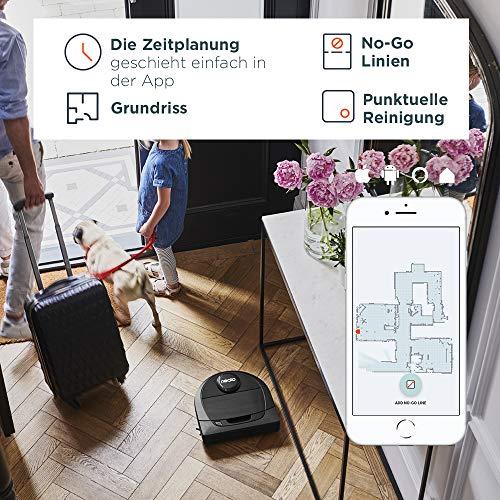 Neato Robotics D6 Intelligenter Saugroboter - Saugroboter Alexa kompatibel & für Tierhaare - Automatischer Staubsauger Roboter mit Ladestation, Wlan & App - 5