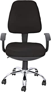 Study Chair For Computer, Desk or Table with Height Adjustable Jack and Wheels, Black, GDF-416 by GDF GALAXY DESIGN FURNITURE