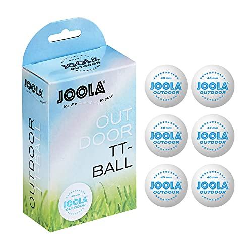 JOOLA Bolas de tênis de mesa para uso ao ar livre – Pacote com 6 bolas de pingue-pongue de 40 mm para treinamento e lazer