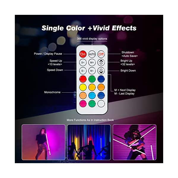 4 Pack RGB LED Video Lights Battery Powered for Photography Lighting, Rechargeable and Remote Control Studio Lights for…