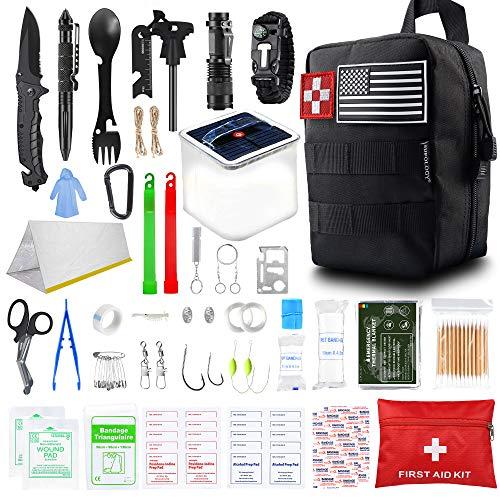 SUPOLOGY Survival Kit, 131Pcs IFAK Tactical Kit Hunting Gear...