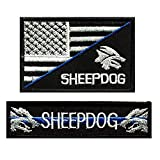 eBateck Funny Morale Patch, Tactical Patches Embroidered with Keychain, Hook&Loop (Sheepdog Military)