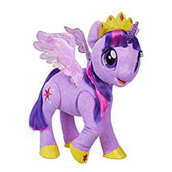 Responds to sound and touch Says 90 plus phrases, tells stories, and talks about spells Touch her horn to hear her talk about her magical spells Her horn lights up and flashes Poseable legs