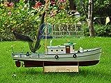 SIourso Maquetas Debarcos Kits De Maqueta De Madera Kit Montado Modelo De Viento Comercial Barco De Pesca Naxos Versión De Control Remoto 1:25 DIY