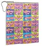 NBHJU Personalisierte dekorative Duschvorhang Pink Panther Badezimmer Dekorationen Geschenke für Männer Frauen Jungen Jungen Mädchen 60x 72 Zoll