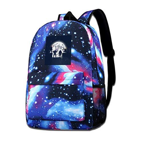 51NGkTolXbL - XNTWJMV Galaxy bolsa de hombro estampada para adolescentes, tortugas ninja mutantes, sombras nocturnas, silueta de moda…