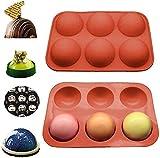 Molde de silicona semiesfera, molde para hornear para hacer bombas de chocolate, bombas de cacao, pasteles, gelatina, mousse de cúpula, medio círculo..