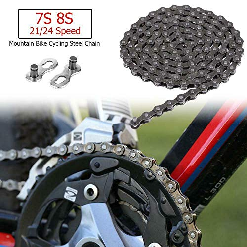 Best Deals! ZoeDul Bicycle Chain 116 Links 7S 8S 21/24 Speed MTB Mountain Bike Steel Chain New