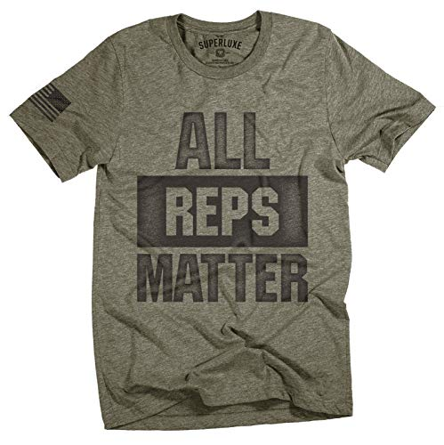 Superluxe Clothing Mens All Reps Matter American Battle Flag Weightlifting Bodybuilding Workout...