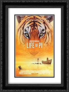 Life of Pi 18x24 Double Matted Black Ornate Framed Movie Poster Art Print