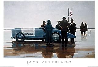 Pendine Beach Jack Vettriano Vintage Racing Car Sports Print Poster 27.5x19.5