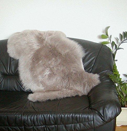 HEITMANN australische Lammfelle Taupe gefärbt, vollwollig, 30 Grad waschbar, Haarlänge ca. 70 mm, ca. 100x68 cm