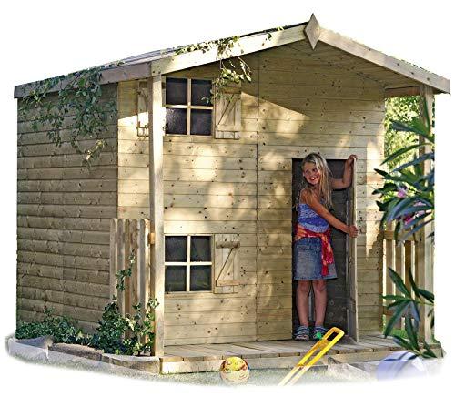 Gartenpirat Spielhaus Peter 222x220 aus Holz KDI mit Boden und Terrasse