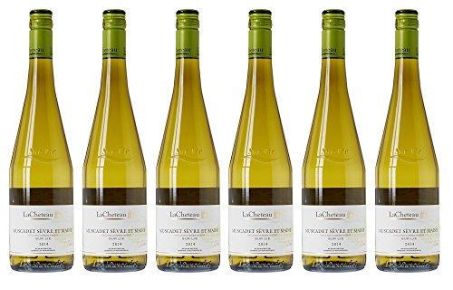 LaCheteau France Loire Valley Vin Muscadet Sevré/Maine sur Lie AOP 75 cl - Lot de 6