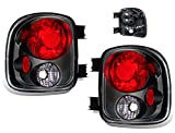 SPPC Black Euro Tail Lights Assembly Set For Chevy Silverado : GMC Sierra - (Pair) Driver Left and Passenger Right Side Replacement