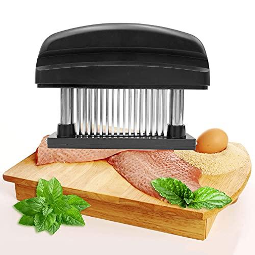 Ablandador de Carne, Aguja Ultra Afilada de Acero Inoxidable 48, para Bistec, Pollo, Pescado y Cerdo