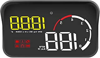 iTimo Car Head Up Display, M10 A100 Windshield Projector, OBD2 Overspeed Warning, with Intelligent Alarm System