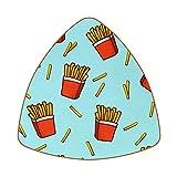 Set di 6 sottobicchieri triangolari per bevande, in pelle, antiscivolo, divertente motivo patatine fritte per casa o bar, regalo di inaugurazione della casa