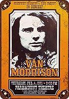Van Morrison in Portland Oregon 金属板ブリキ看板警告サイン注意サイン表示パネル情報サイン金属安全サイン