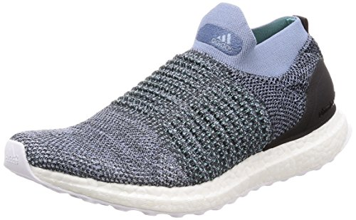 Price comparison product image adidas Ultraboost Laceless Parley Mens Running Trainers Sneakers (UK 9.5 US 10 EU 44,  Blue Black White CM8271)