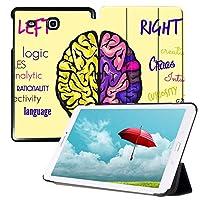 MAITTAO Slim Case for Samsung Galaxy Tab E 9.6, Leather Protective Stand Cover For Tab E Wi-Fi/Tab E Nook/Tab E Verizon 9.6-Inch Tablet/Galaxy Tab E SM-T560/T561/T565/T567V, Creative Brain 8