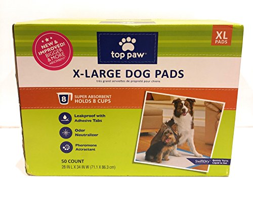 Top Paw Extra Large Dog Training Pads - 50 count