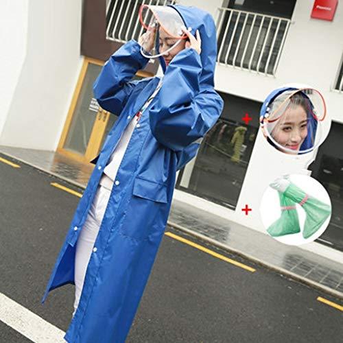 LSLS Raincoat Adult Raincoat Raincoat Poncho Raincoat Fashion Ladies Long Jacket Long Outdoor Travel Raincoat Rain Poncho (Color : E, Size : XXXX-Large)