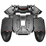 SCYDAO Mobile Gaming-Controller mit Lüfter und Energien-Bank, 6 Finger für PUBG/Call of Duty/Fotnite Gaming Grip Auslöser für 4,7-6,5' iOS Android Phone,4000 ma