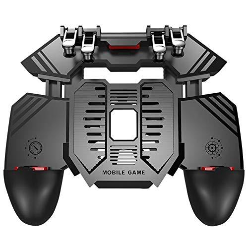 """SCYDAO PUBG Mobile Gaming Controller Mit Kühlfächer Und Power Bank, 6 Finger Für PUBG/Call of Duty/Fotnite Gaming Grip-Trigger Für 4.7-6.5\""""Ios Android-Telefon,Wired Models"""