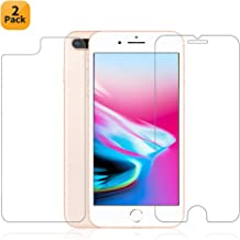 Maxdara iPhone 8 Plus Front and Back Tempered Glass Screen Protector, Ultra Thin Touch Accurate Anti Scratch Screen Protector Case Friendly Lifetime Replacements for iPhone 8 Plus 5.5 inches (2 Pack)