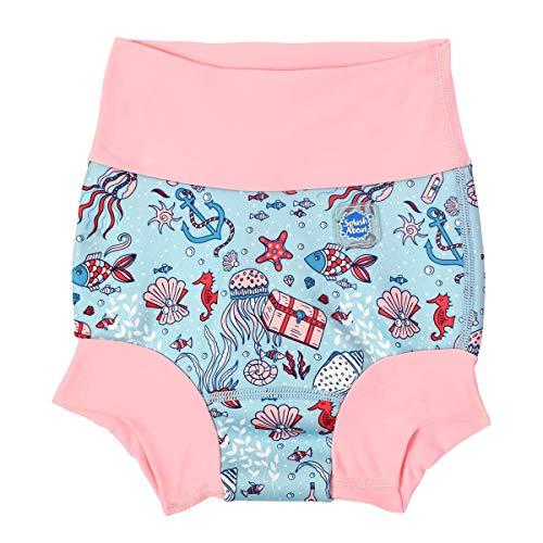 Splash About Unisex Baby Happy Nappy Neoprenanzug Baby und Kleinkind Schwimmwindel, Unisex Baby, HNWHTL, Versteckter Schatz, 6-14 Monate