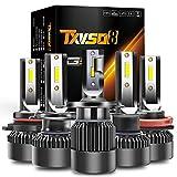 TXVSO8 H7 H1 H4 H11 9005 9006 llevó el Bulbo del Faro - 100w 10000LM / Set Kit de conversión de Faros superbrillantes 6000K Blanco frío (Size : H7)