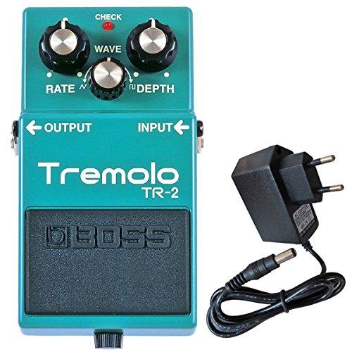 Boss TR-2 Tremolo Effekt-Pedal + keepdrum 9V Netzteil