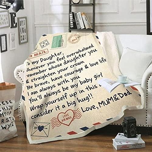 Fleece Fußkettchen an Meine Tochter Sohn Frau Brief PrinteQuilts Air Mail Fußkettchen-5-M