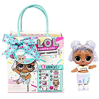 LOL Surprise Present Surprise Series 3 Birthday Month Theme with 8 Surprises  2 Sticker Sheets