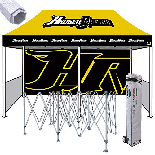 Eurmax Premium 10x20 Custom Canopy, Full Color Imprinted Tent, Sport Canopy Booth with Your Logo Bonus Roller Bag