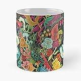 Alice in Wonder – La migliore tazza da caffè in ceramica di marmo bianco da 11 Oz