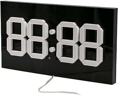 T Tocas Jumbo 30CM Digital LED Relojes de Pared Relojes Remoto con termómetro, Calendario,