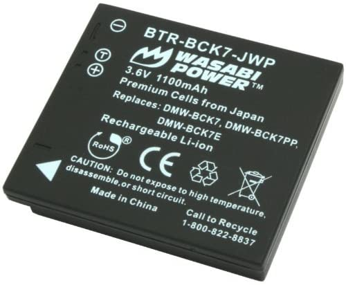 Wasabi Power Sales Battery for Panasonic DMW-BCK7 NCA-YN101G and Pana