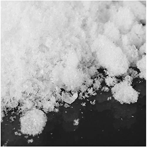 com-four® 2X 1 Liter Kristallschnee zum Dekorieren und Basteln - Kunstschnee als Weihnachtsdeko - Winter-Deko mit künstlichem Schnee (02 Stück - Kristallschnee grob/1l)