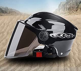 Ecloud Shop/®Mezzo casco modulare apribile con visiera per moto con schermo solare per uomo e donna casco da bicicletta casco per auto elettrica