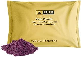 Acai Berry Powder (8 oz.) by Pure Organic Ingredients, Superfood, Spray-Dried for Maximum Nutrient Retention, Vegan, Non-GMO, GLUTEN-FREE